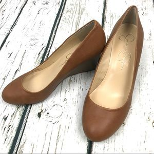 Jessica Simpson Shoes - Jessica Simpson Brown Sampson Wedges Sz 9.5